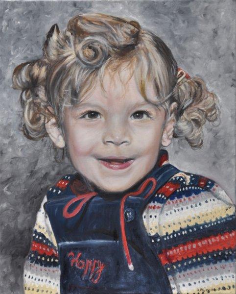 Lockenkopf, Gemälde